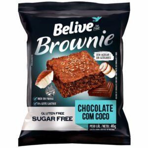 Brownie Chocolate com Coco Sem Açúcar Belive