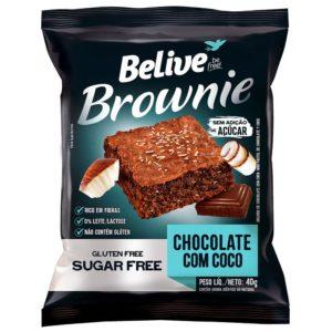 brownie fitsem açúcar chocolate com coco da belive