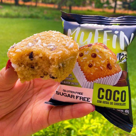 Muffin Fit sem açúcar, sabor Coco com Gotas de Chocolate, da Belive