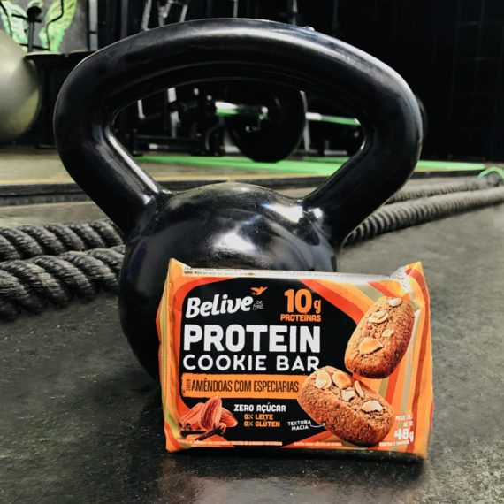 Cookie proteico da Belive na academia