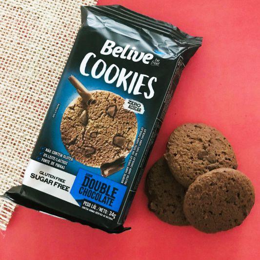Cookie Sem Açúcar sabor Double Chocolate da Belive