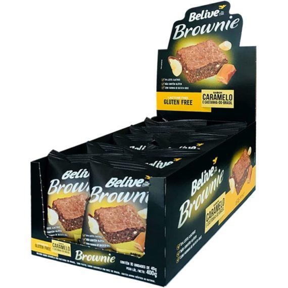 Brownies sem glúten da belive, em display com 10 unidades