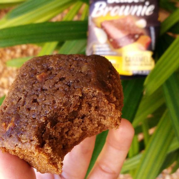 brownie sem glúten de caramelo com castanha do pará belive