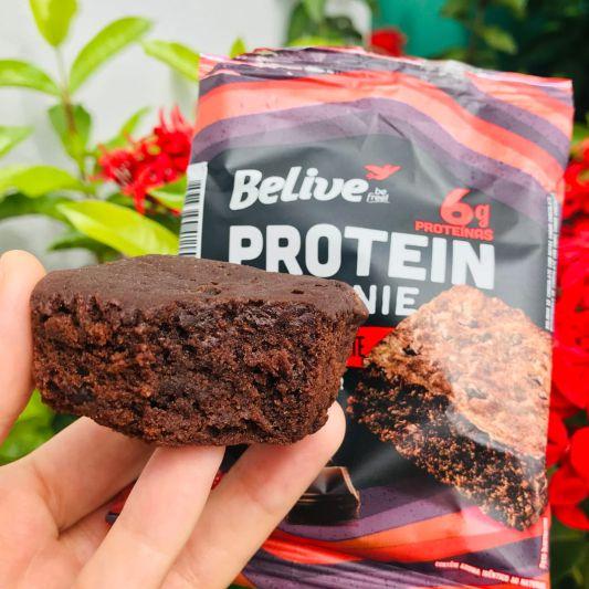 brownie proteico belive sem açúcar