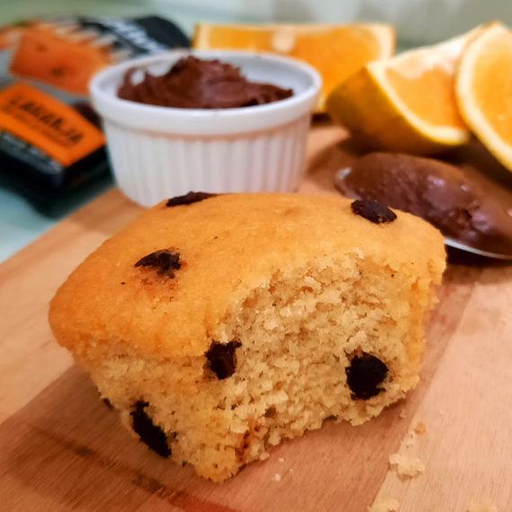 Muffin Fit de Laranja com Gotas de Chocolate Sem Açúcar da Belive