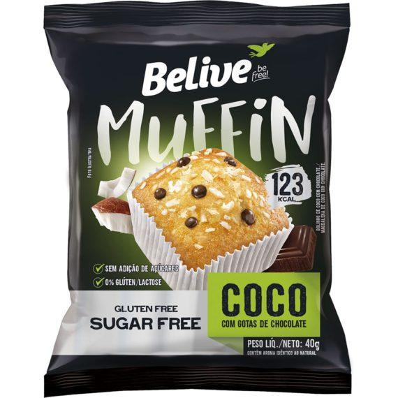 Muffin Fit sabor Coco com Gotas de Chocolate da BeLive