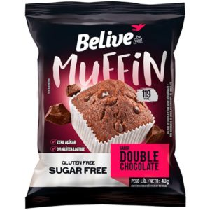 Muffin Fit de Chocolate com Gotas BeLive