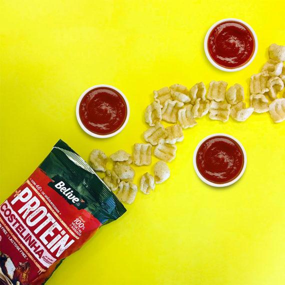 snack proteico sabor costelinha ao molho barbecue