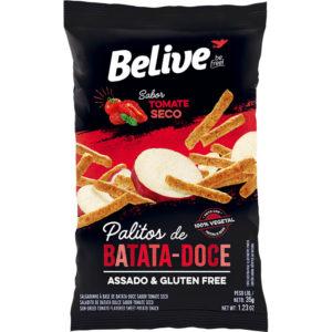 snacks proteicos de batata-doce sabor tomate seco