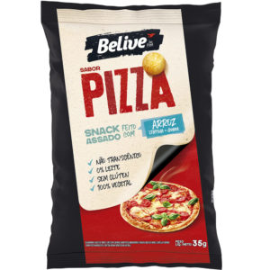 Snack Saudável de Arroz, sabor Pizza, Belive