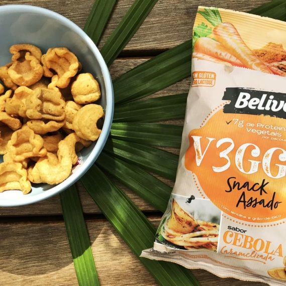 snacks saudaveis sabor cebola caramelizada no bowl
