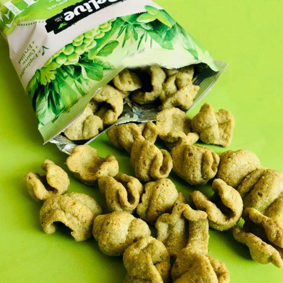snacks saudaveis veganos sabor cream cheese com ervas