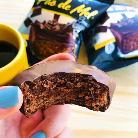 Pão de Mel Fit Sem Açúcar e Sem Glúten da Belive com café