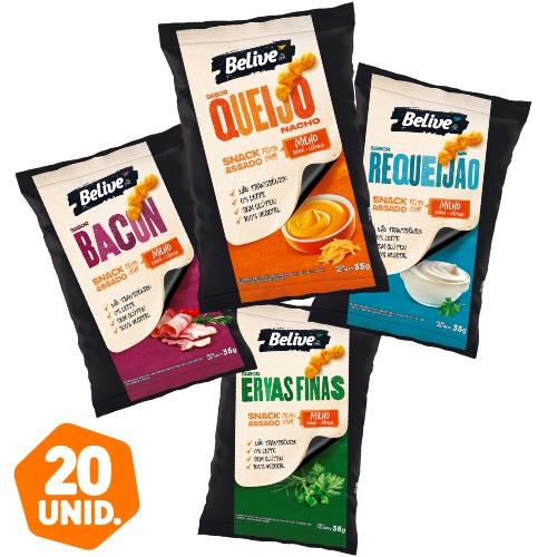 Combo de Snacks Fit Belive, 4 sabores