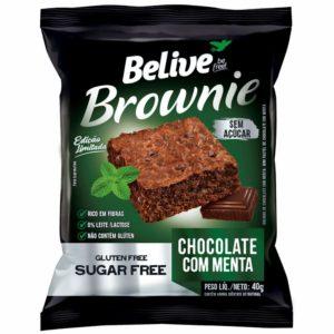 Brownie Sem Açúcar de Chocolate com Menta da Belive