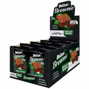 Display de Brownies Sem Açúcar Chocolate com Menta, 10 unidades