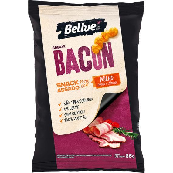 Snack Fit de Milho, sabor Bacon, da Belive