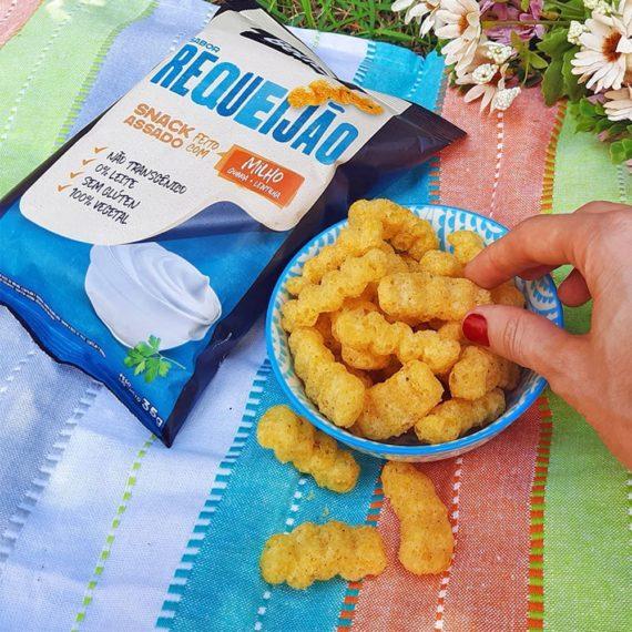 Pic Nic com Snack Fit da Belive, sabor Requeijão, feito com milho
