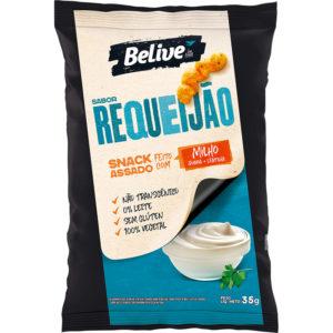 Snack Fit de Milho, sabor Requeijão, da BeLive