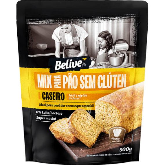 Embalagem Mistura para Pão sem glúten caseiro Belive - Mix
