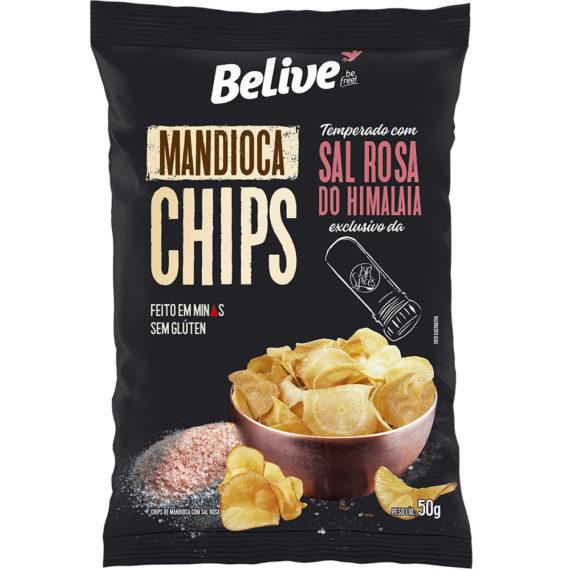 chips de mandioca com sal rosa do himalaia belive