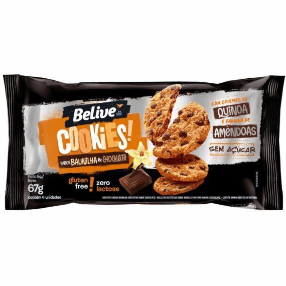Cookie Sem Açúcar Baunilha e Chocolate Belive