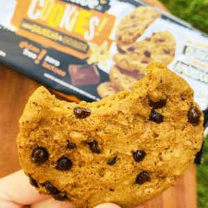 cookie sem açúcar baunilha e gotas de chocolate belive