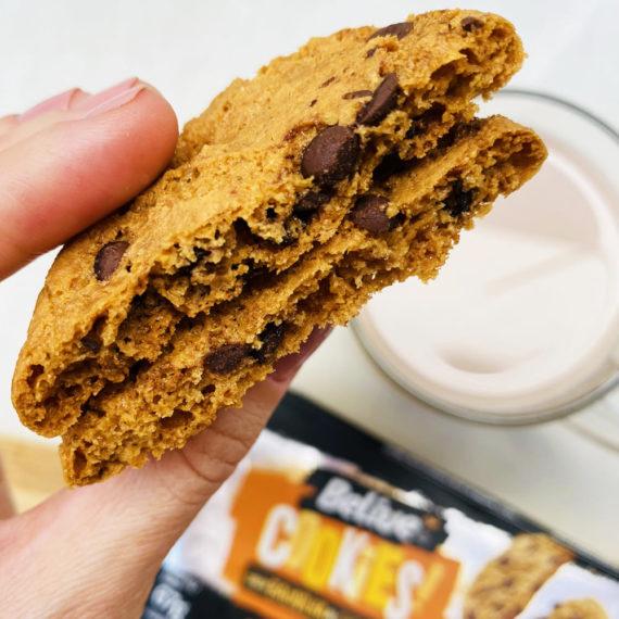 cookie sem açúcar baunilha e gotas de chocolate belive be free