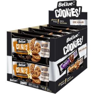 Display Cookies Sem Açúcar Baunilha e Chocolate Belive 10 unidades
